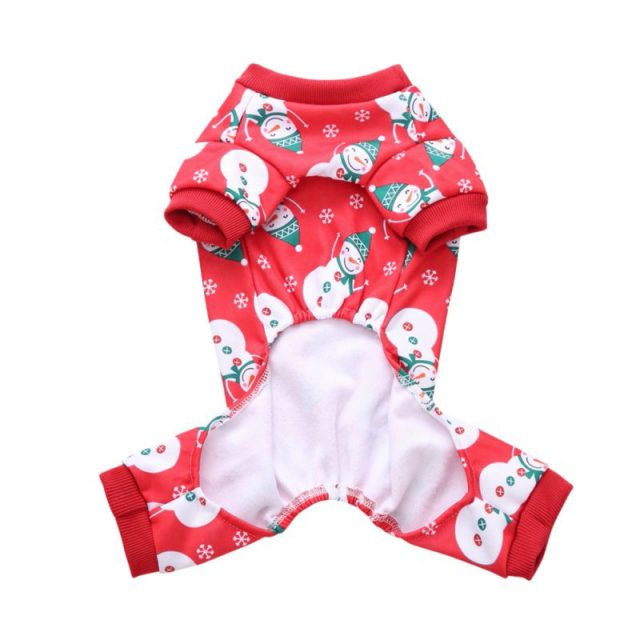 Dog's Christmas Themed Jumpsuit