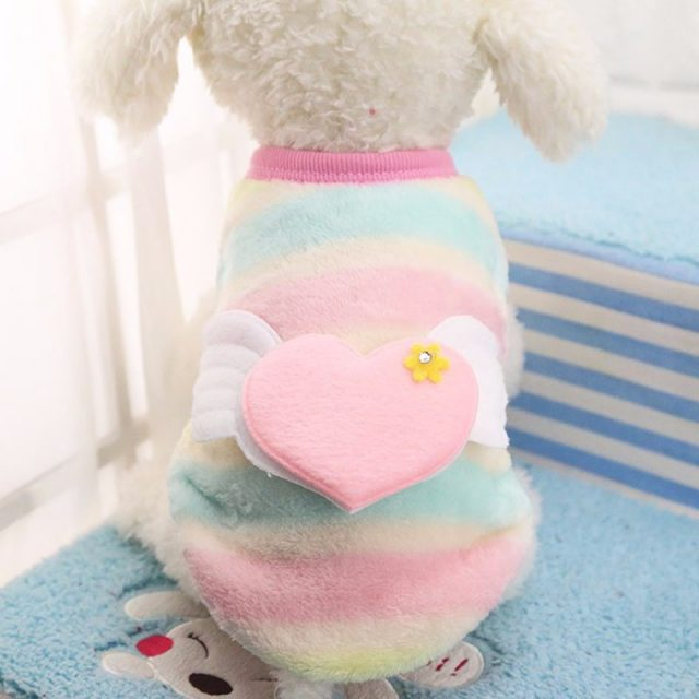Warm Embroidered Flannel Pet's Vest