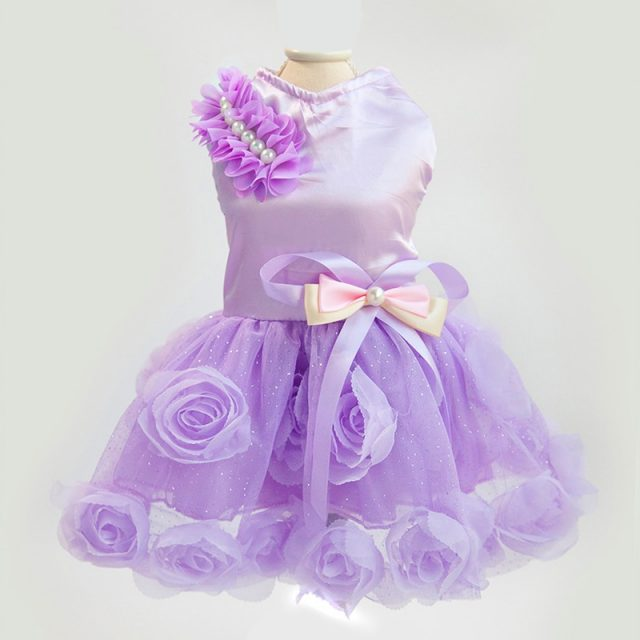 Charming Small Summer Ruched Dress for Dogs