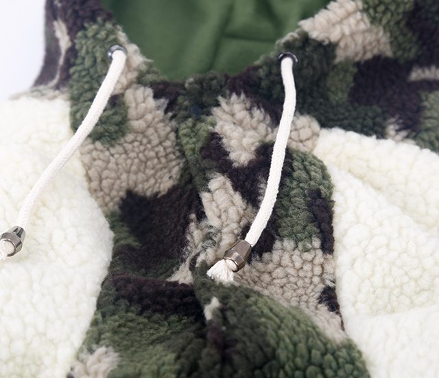 Camouflage Print Hoodie for Dogs