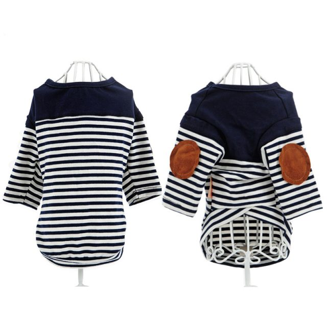 Sailor Striped Cotton Pullover for Dogs