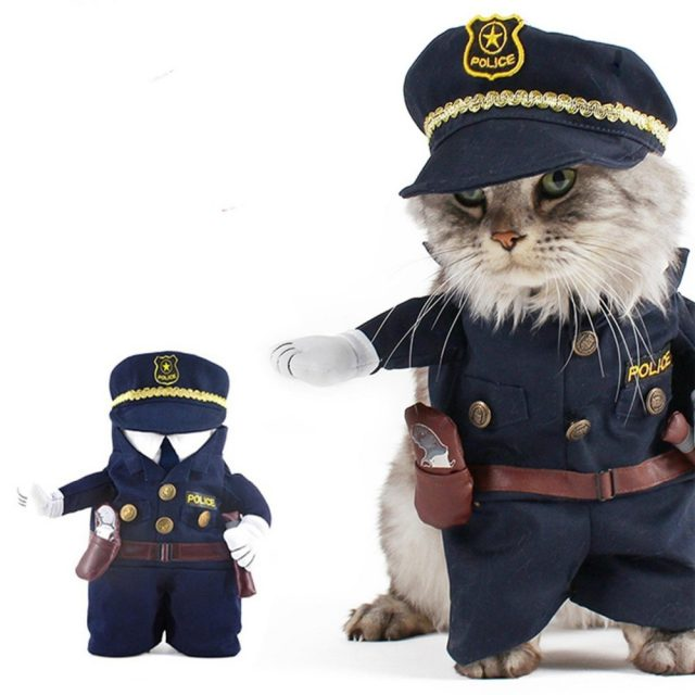 Pet's Funny Policeman Cotton Costumes
