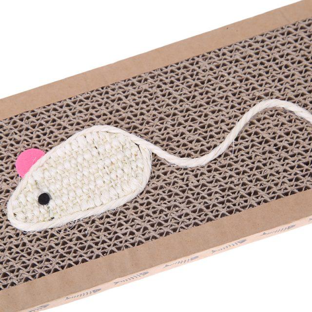 Funny Mouse Embroidery Cardboard CatScratcher