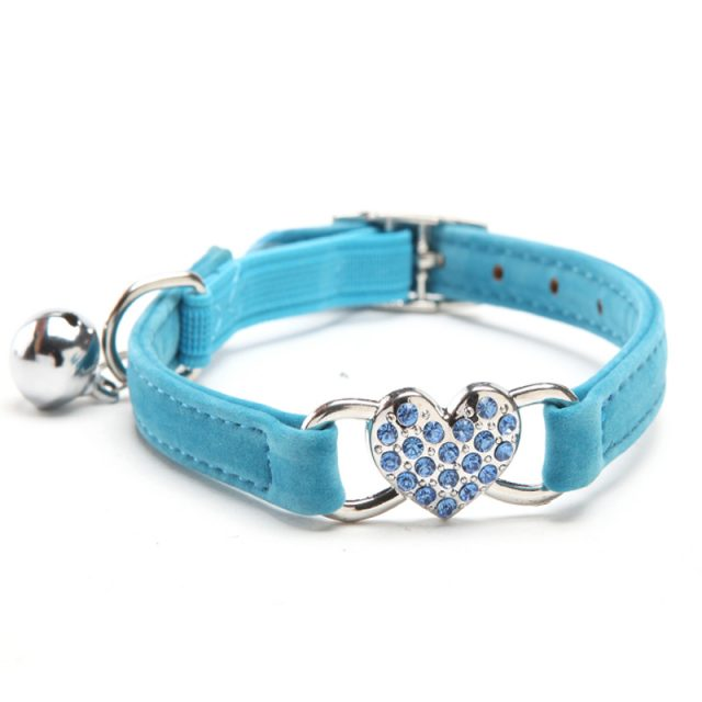 Cats Collar with Bell and Heart-Shaped Decoration