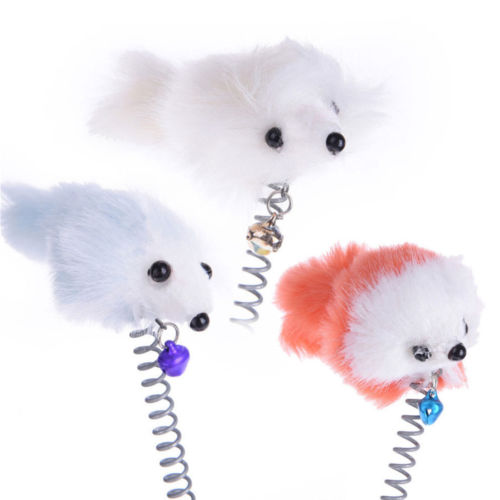 Funny Cat Spring Toy with Suction Cup