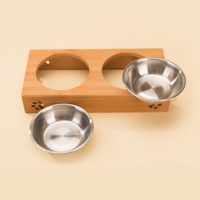 Bowl Set with Wooden Stand