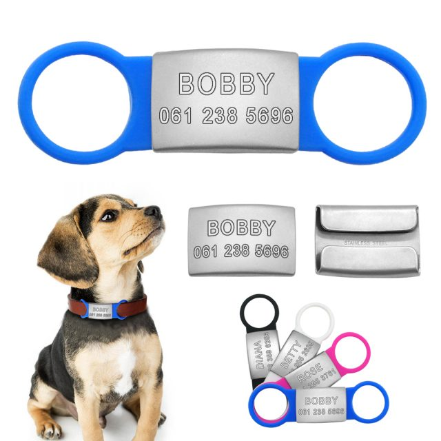 Dog's Personalized Stainless Steel ID Tags