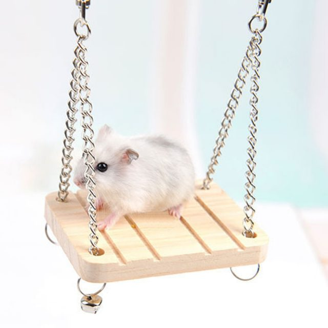 Wood Swing Hammock Play Toys for Small pet