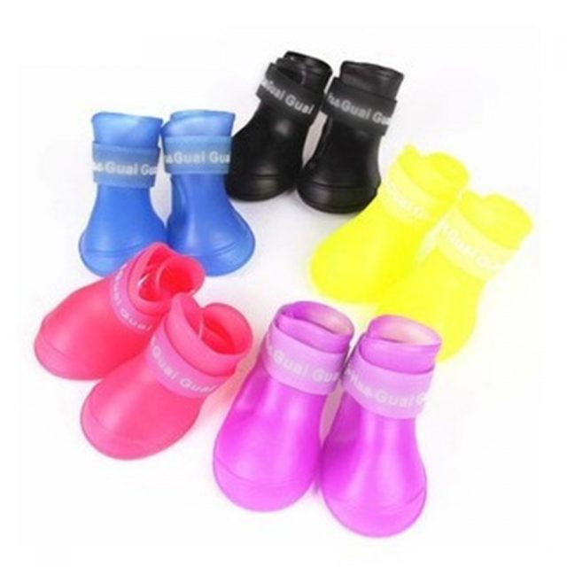 Candy Color Rubber Shoes for Dogs