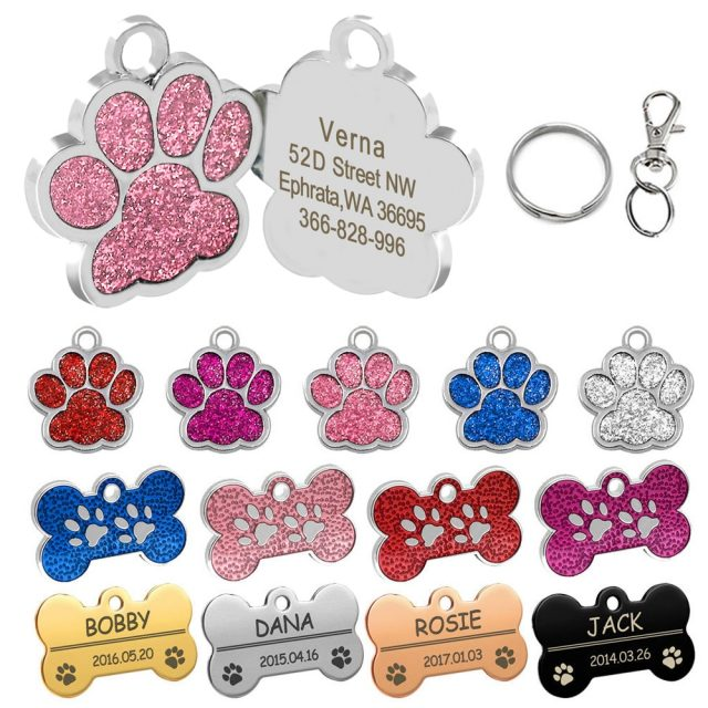 Personalized Dog, Cat  ID Name Tag