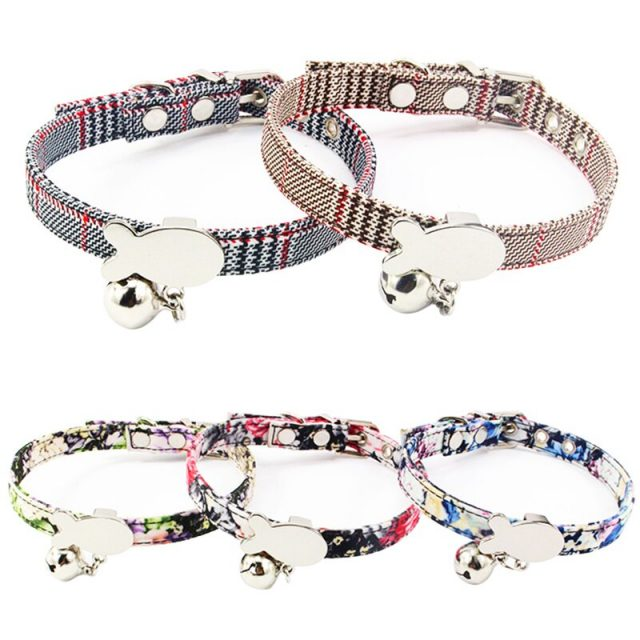 Personalized ID Collar and Bell Customized Dog Cat Collar