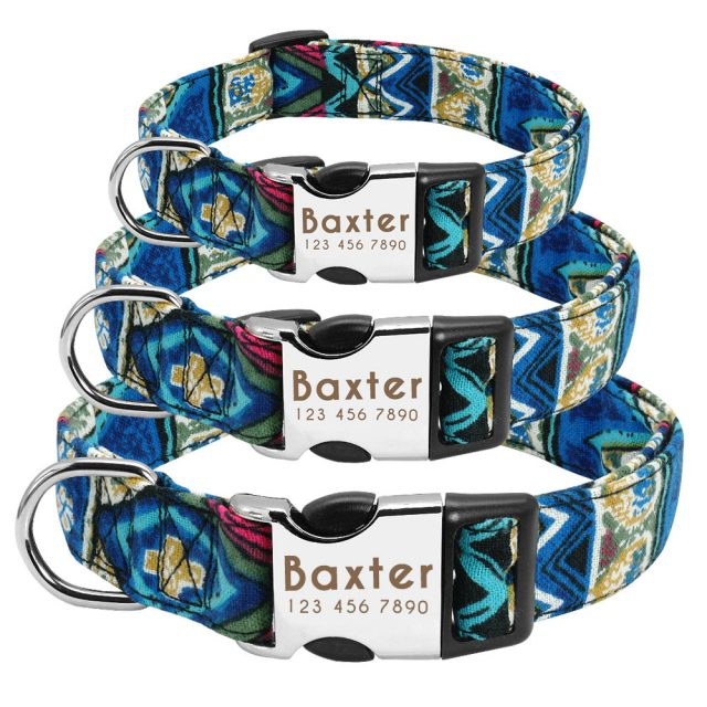 Dog Collar for Large Dogs Nylon Personalized Pet Collar