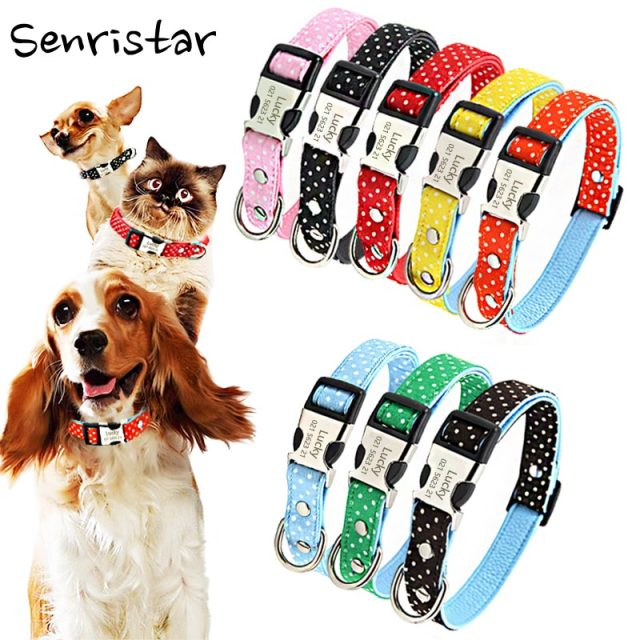 Personalized Custom Alloy Buckle Pet Dog Tag Collar