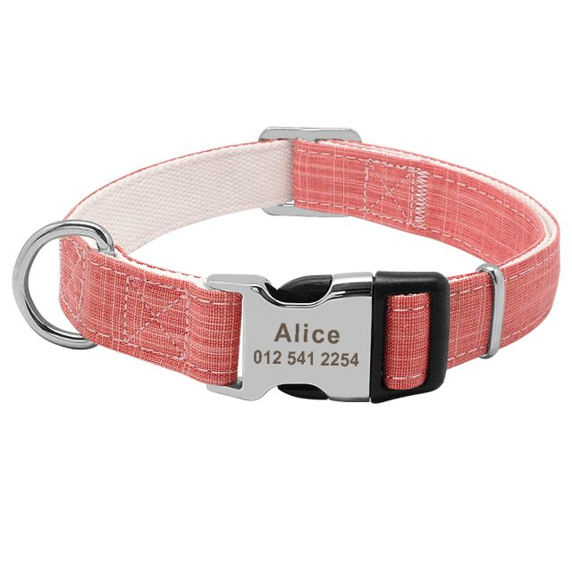 Personalized Dog Collar Engraved Name