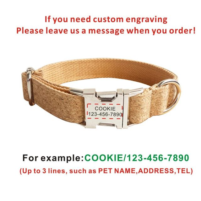 Dog Collar Personalized Adjustable  Collars Leads Learsh Set Pet Accessory