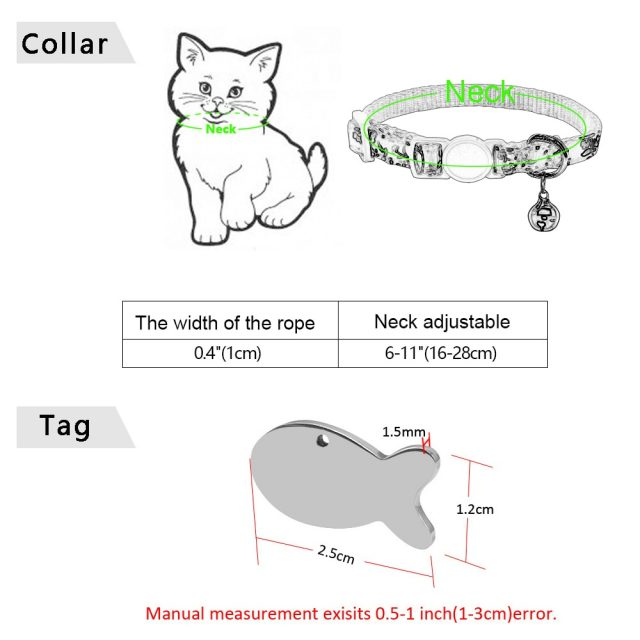 Personalized Pet Cat Collar With Bell Floral Custom Collars for Cats Kitten