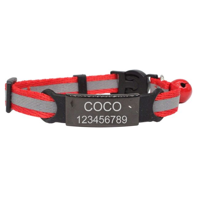 Free Enrgaving Personalized ID Safety Buckle cat collar