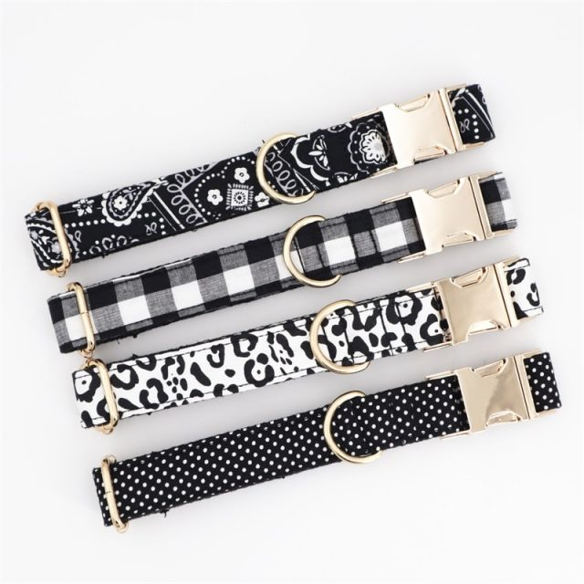 Personalized Pet Dog  Collar Adjustable Engraved Puppy Cat Nameplate ID Collars